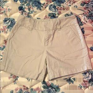 Tan school uniform shorts